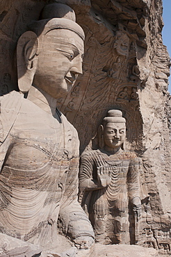 Yungang Grottoes, early Buddhist cave temples, Unesco World Heritage Site, Shanxi, China, Asia
