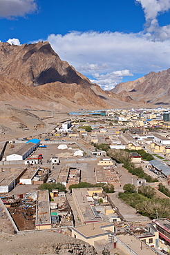 Town of Ali, Shiquanhe, most western city of Tibet, Asia