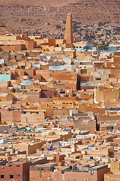 View over a village in the UNESCO World Heritage Site of M'zab, Algeria, Africa
