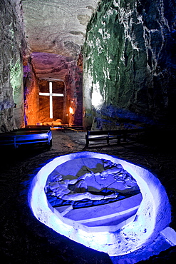 Underground Salt Cathedral of Zipaquira, Cundinamarca, Colombia, South America