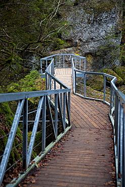 Viewing platform at the Eistobel gorge near Isny, Baden-Wuerttemberg, Germany, Europe