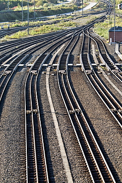 Through station and switch yard Munich Nord, Munich, Bavaria, Germany, Europe