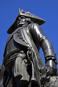 Statue of General Jakob von Keith, 1696-1758, Zietenplatz, Berlin, Germany, Europe