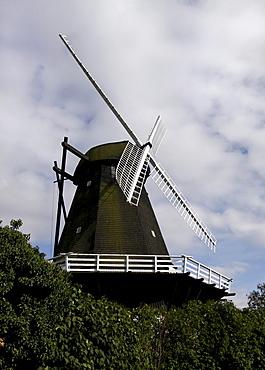 Windmill in Rudkobing, Langeland, Denmark, Europe