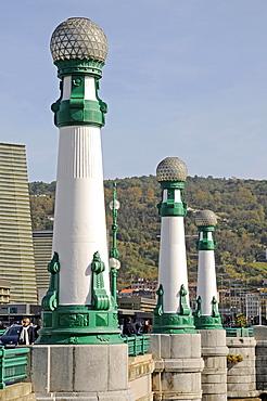 Bridge piers, Ponte Zurriola, Zurriola Bridge, San Sebastian, Pais Vasco, Basque Country, Spain, Europe