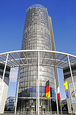 RWE Tower, high-rise building, power station, energy company, corporate head office, registered office, Essen, Ruhr area, North Rhine-Westphalia, Germany, Europe