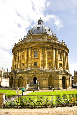 Bodleian Library, Bodley's Library, Radcliffe Camera, Main Library, Radcliffe Square, Oxford, Oxfordshire, England, United Kingdom, Europe