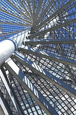 Circular staircase made of metal