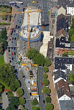 Aerial view, former bunker, Universitaetsstrasse street, Bochum, Ruhr area, North Rhine-Westphalia, Germany, Europe