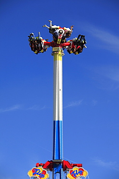 Flip Fly amusement ride at the Oktoberfest, Munich Beer Festival, Munich, Bavaria, Germany, Europe