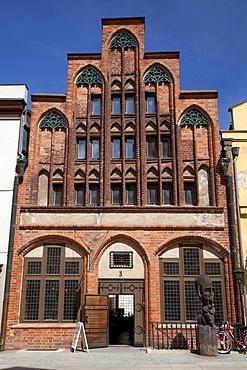 Gotisches Dielenhaus, gabled house, brick gotic, Stralsund, Unesco World Heritage Site, Mecklenburg-Western Pomerania, Germany, Europe