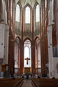St. Mary's Church, Hanseatic City of Luebeck, Schleswig-Holstein, Germany, Europe