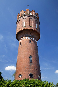 Old water tower, industrial monument, Eutin, Naturpark Holsteinische Schweiz, nature park, Schleswig-Holstein, Germany, Europe