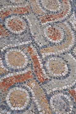 Floor mosaic, ancient archaeological excavation site of Ephesus, Selcuk, Lycia, Turkey, Asia
