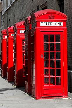 Telephones, payphones, near Covent Garden, London, England, United Kingdom, Europe