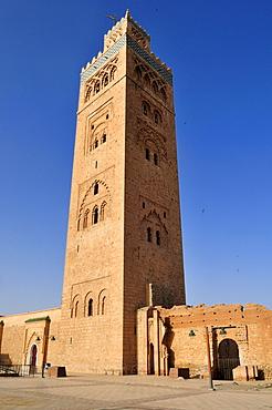 Minaret of Koutoubia, Kutubiya Mosque in Marrakesh Medina, Unesco World Heritage Site, Morocco, North Africa