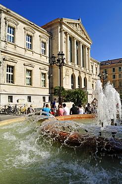 Palais de Justice, Place du Palais, Nice, Nizza, Cote d'Azur, Alpes Maritimes, Provence, France, Europe