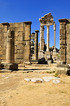 Ancient Roman temple, archeological site of Qalaat Faqra, Lebanon, Middle East, West Asia