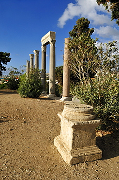 Ancient Roman ruins at the archeological site of Byblos, Unesco World Heritage Site, Jbail, Lebanon, Middle east, West Asia