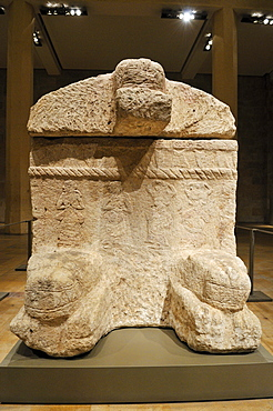 Antique stone sarcophagus of King Ahiram from Byblos, National Museum, Beirut, Beyrouth, Lebanon, Middle East, West Asia