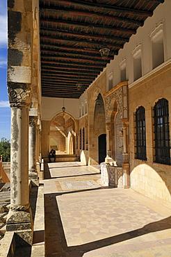 Patio of historic Beit ed-Dine, Beiteddine Palace of Emir Bashir, Chouf, Lebanon, Middle East, West Asia