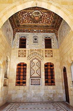 Detail of historic Beit ed-Dine, Beiteddine Palace of Emir Bashir, Chouf, Lebanon, Middle East, West Asia