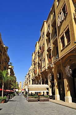 Street in the historic center of Beirut, Beyrouth, Lebanon, Middle East, West Asia