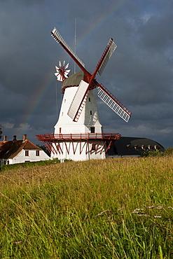 Dybboel Moelle windmill, Dybboel Peninsula, Sonderborg, South Denmark, Denmark, Europe, PublicGround