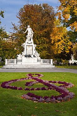 Mozart monument, Vienna, Austria, Europe