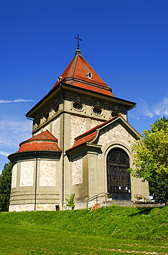 Herz-Jesu-Kapelle, Sacred Heart chapel, on the Way of St. James in Posieux, canton of Fribourg, Switzerland, Europe