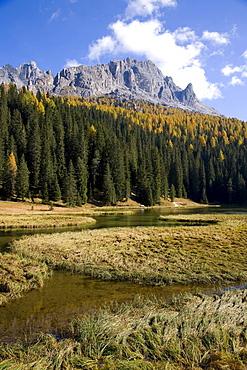 Lake Autorno, Tre Cime di Lavaredo, Dolomites, Province of Bolzano-Bozen, Italy, Europe
