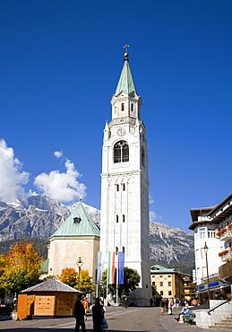 Church in Cortina d'Ampezzo, Italy, Europe