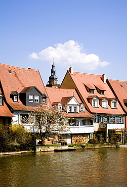Little Venice district on the Pegnitz river in Bamberg, Bamberg, Franconia, Bavaria, Germany, Europe