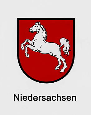 Coat of arms of Niedersachsen, Lower Saxony, federal state of Germany