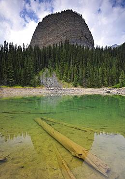 Big Beehive Mountain, Mirror Lake, Lake Louise, Banff National Park, Canadian Rocky Mountains, Alberta, Canada