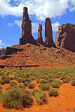 The Three Sisters, Monument Valley, Arizona, USA