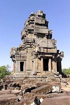 Tower, Prasat, temple of Ta Keo, Angkor, UNESCO World Heritage Site, Siem Reap, Cambodia, Southeast Asia, Asia