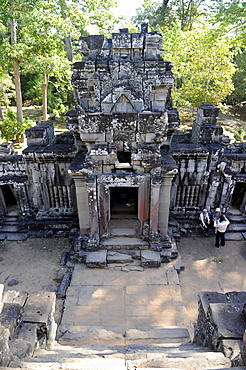 Gopuram of the temple of Ta Keo, Angkor, UNESCO World Heritage Site, Siem Reap, Cambodia, Southeast Asia, Asia