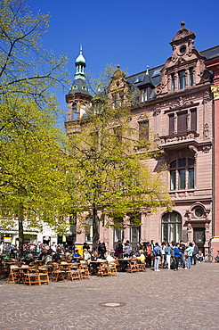 Universitaetsplatz, University Square, Heidelberg, Neckar, Palatinate, Baden-Wuerttemberg, Germany, Europe