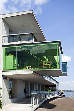 Modern architecture, housebuilding on Borneo island, Amsterdam, Holland region, Netherlands, Europe