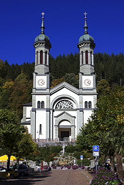 Parish church of St. Johannes in Todtnau in the Black Forest, Baden-Wuerttemberg, Germany, Europe