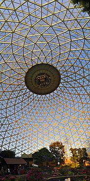 Glass roof, the Botanical Garden in Mitchell Park, Milwaukee, Wisconsin, USA