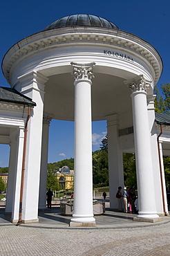 Walkway with columns and cupola, Marianske Lazn&, Marienbad, Czech Republic, Europe
