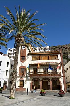 Square in San Sebastian, the capital of La Gomera, Canary Islands, Spain, Europe