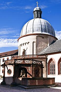 Basilica in the Marienberg fortress, Wuerzburg, Bavaria, Germany, Europe