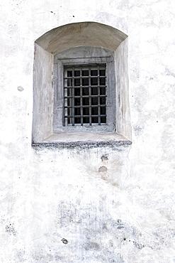 Window in a castle, Wuerzburg, Bavaria, Germany, Europe