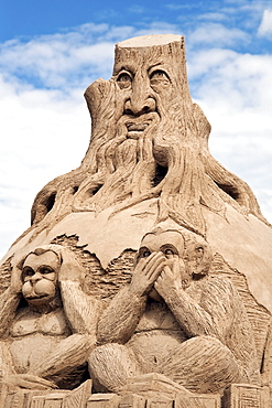 Sand sculpture at the Sand Sculpture Festival, Berlin, Germany, Europe