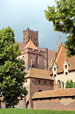 Malbork Castle, formerly Marienburg Castle, the seat of the Grand Master of the Teutonic Knights, Malbork, Mazury, Poland, Europe