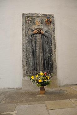 Epitaph in the Marienkirche or St. Mary's Church, Katharina von Bora, Luther's wife, Torgau, Landkreis Nordsachsen district, Saxony, Germany, Europe