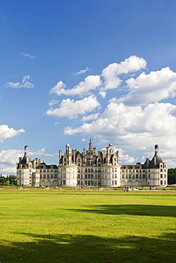 Chateau de Chambord castle, Chambord, Departement Loir-et-Cher, Region Central, France, Europe